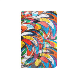 Abstract Design Color Whirl Background Journal
