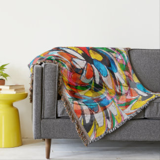 Abstract Design Color Whirl Background Throw Blanket