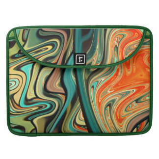 abstract design colorful fractal sleeve for MacBook pro