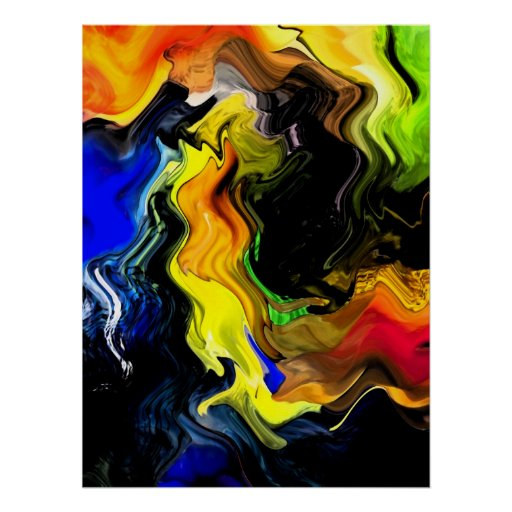 Abstract Design - Colour Splash Poster