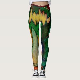 abstract design, colourful, original art leggings