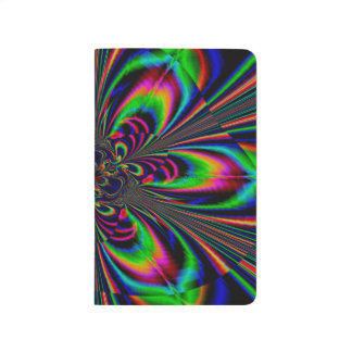 Abstract Design Feather Look Yellow And Blue Whirl Journal