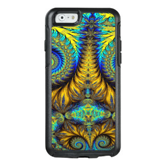 Abstract Design Feather Look Yellow And Blue Whirl OtterBox iPhone 6/6s Case