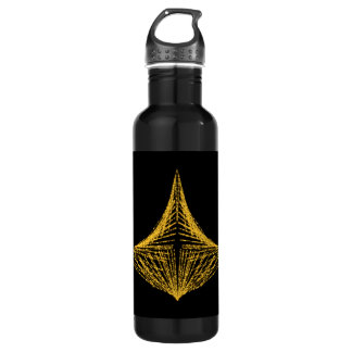 Abstract design, fiery amber and black. 710 ml water bottle