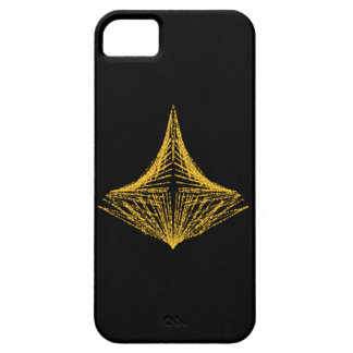 Abstract design, fiery amber and black. iPhone 5 cover
