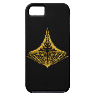 Abstract design, fiery amber and black. iPhone 5 covers