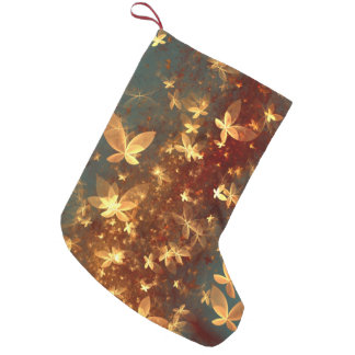 abstract design fractal butterflies small christmas stocking