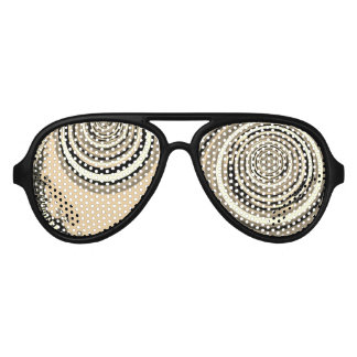 abstract design fractal concentric circles aviator sunglasses