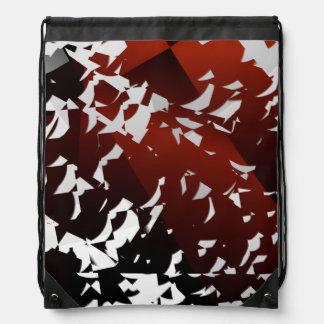abstract design fractal drawstring bag