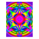 Abstract Design Fractal Geometric Postcard