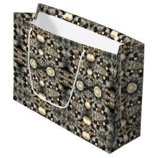 abstract design fractal large gift bag