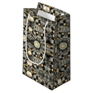 abstract design fractal small gift bag