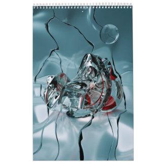 abstract design fractal wall calendar