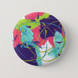 Abstract Design from Original Painting 6 Cm Round Badge