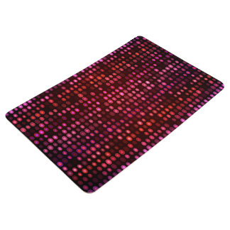 Abstract Design Geometric Purple And Lilac Circles Floor Mat
