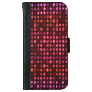 Abstract Design Geometric Purple And Lilac Circles iPhone 6 Wallet Case