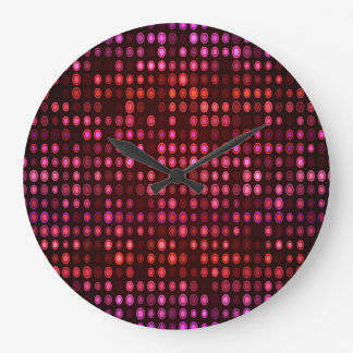 Abstract Design Geometric Purple And Lilac Circles Large Clock