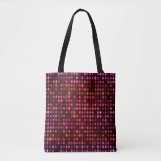 Abstract Design Geometric Purple And Lilac Circles Tote Bag
