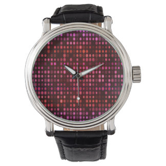 Abstract Design Geometric Purple And Lilac Circles Watches