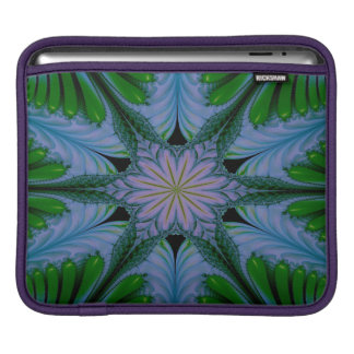 Abstract Design Green And Blue iPad Sleeve