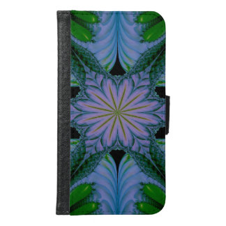 Abstract Design Green And Blue Samsung Galaxy S6 Wallet Case