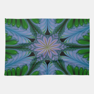 Abstract Design Green And Blue Tea Towel