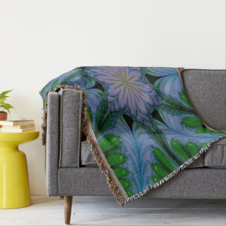 Abstract Design Green And Blue Throw Blanket