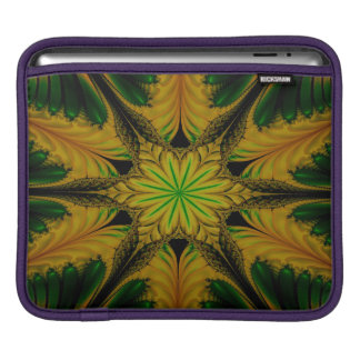 Abstract Design Green And Yellow iPad Sleeve
