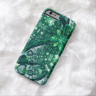 abstract design green fractal barely there iPhone 6 case