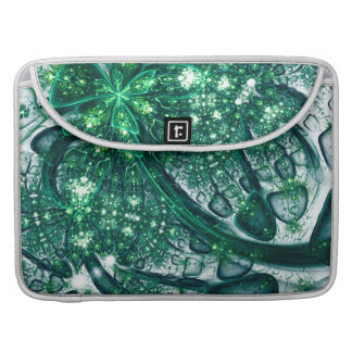 abstract design green fractal sleeve for MacBook pro