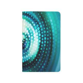 Abstract Design Green & White Concentric Circles Journals