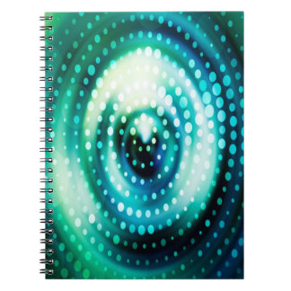 Abstract Design Green & White Concentric Circles Note Books