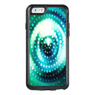 Abstract Design Green & White Concentric Circles OtterBox iPhone 6/6s Case