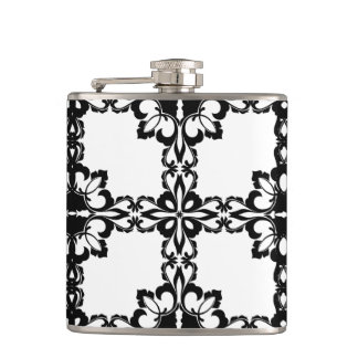 Abstract design hip flask