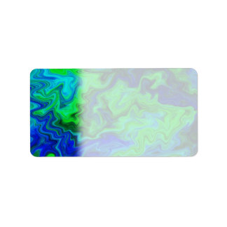 Abstract Design in Blue and Green. Label
