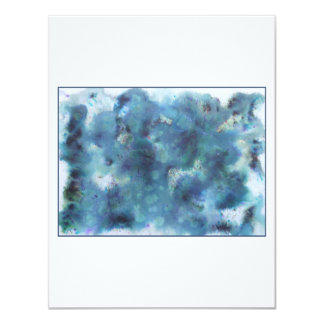 Abstract Design in Blue. Custom Announcements