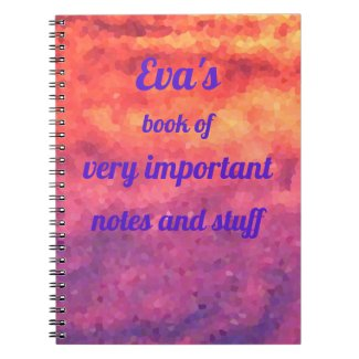 Abstract design in bright colours, bright notebook
