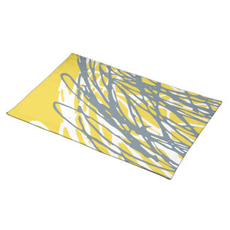 Abstract design in gray and yellow placemat