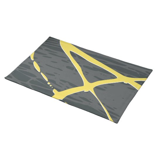 Abstract design in grey and yellow placemat