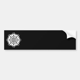 Abstract Design in White. Bumper Sticker