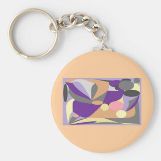 Abstract design key ring