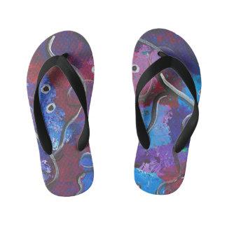 Abstract Design Kids Flip Flops
