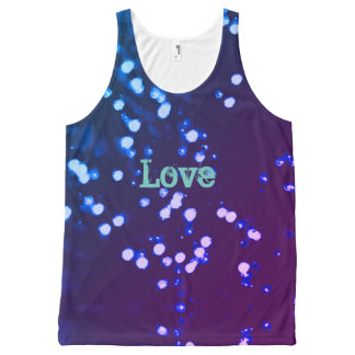 Abstract design love All-Over print tank top