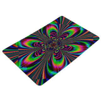Abstract Design Multi Color Floral Design Floor Mat