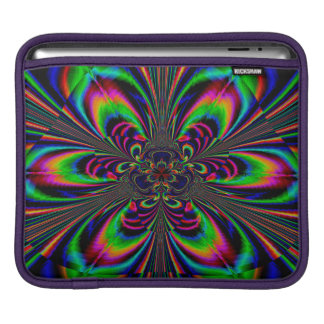 Abstract Design Multi Color Floral Design iPad Sleeve