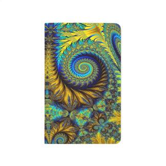 Abstract Design Multi Color Floral Design Journal