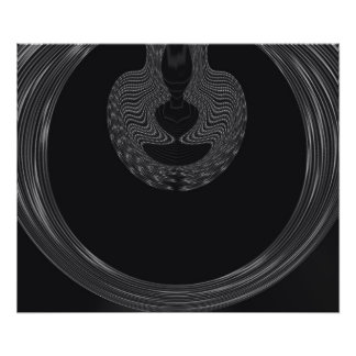 Abstract design on black background photo