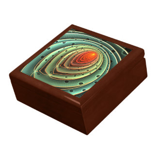 abstract design orange flame concentric circles gift box