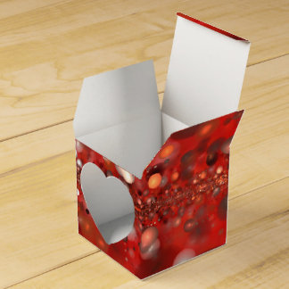 abstract design orbs on red box