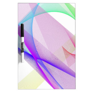 ABSTRACT DESIGN PASTEL COLOURS DRY ERASE BOARD